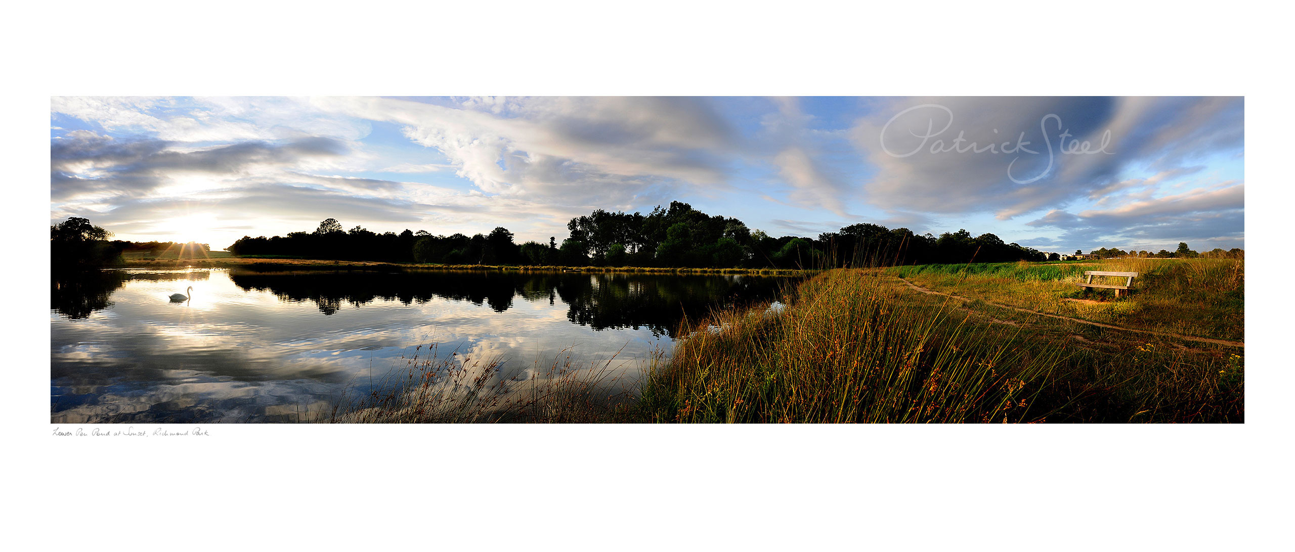 Title: Lower Pen Pond at Sunset, Richmond Park | <a href=