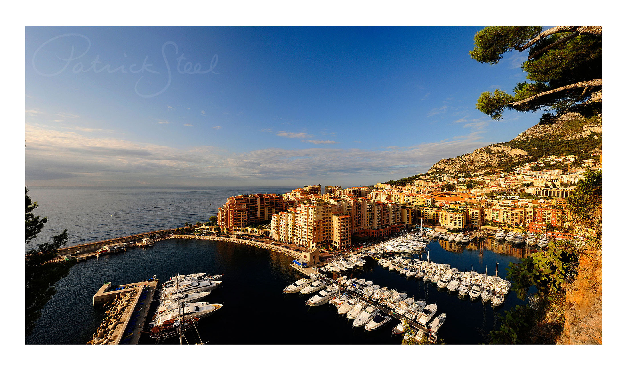 photograph of port fontvieille monaco by landscape photographer patrick steel