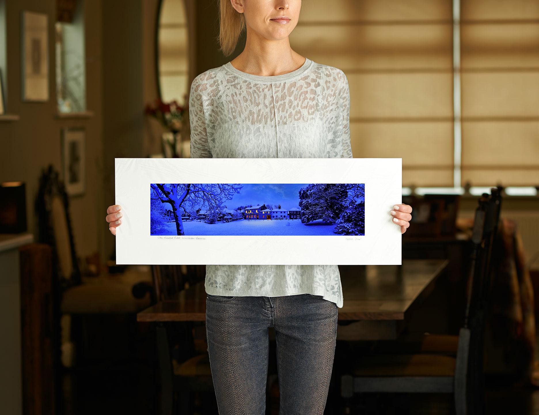 photograph the crooked billet pub Landscapes Professional Landscape Photographer Patrick Steel snow scene