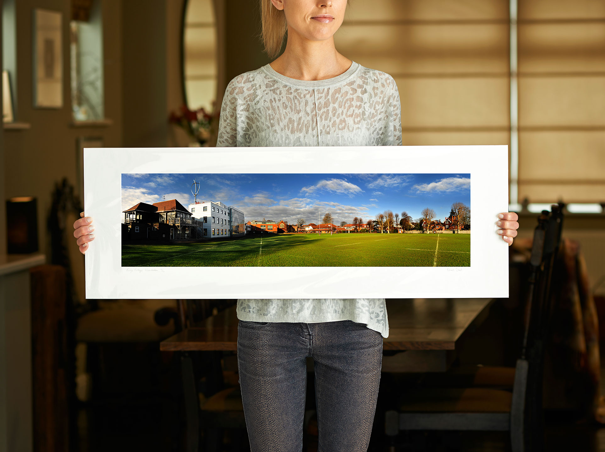 Clearance | 30 inch pre-mounted print of: King's College School | <a href=