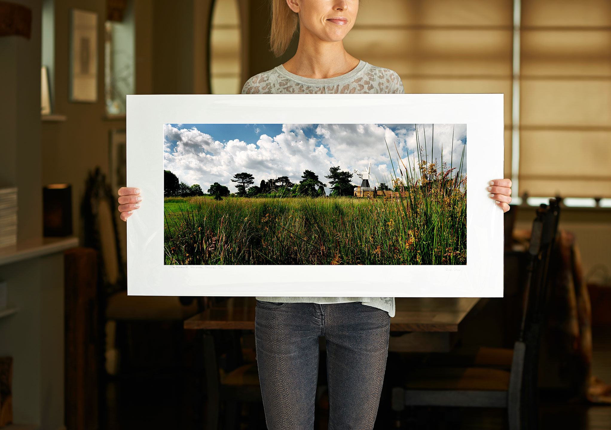 Clearance | 28 inch pre-mounted print of: The Windmill, Wimbledon Common | <a href=