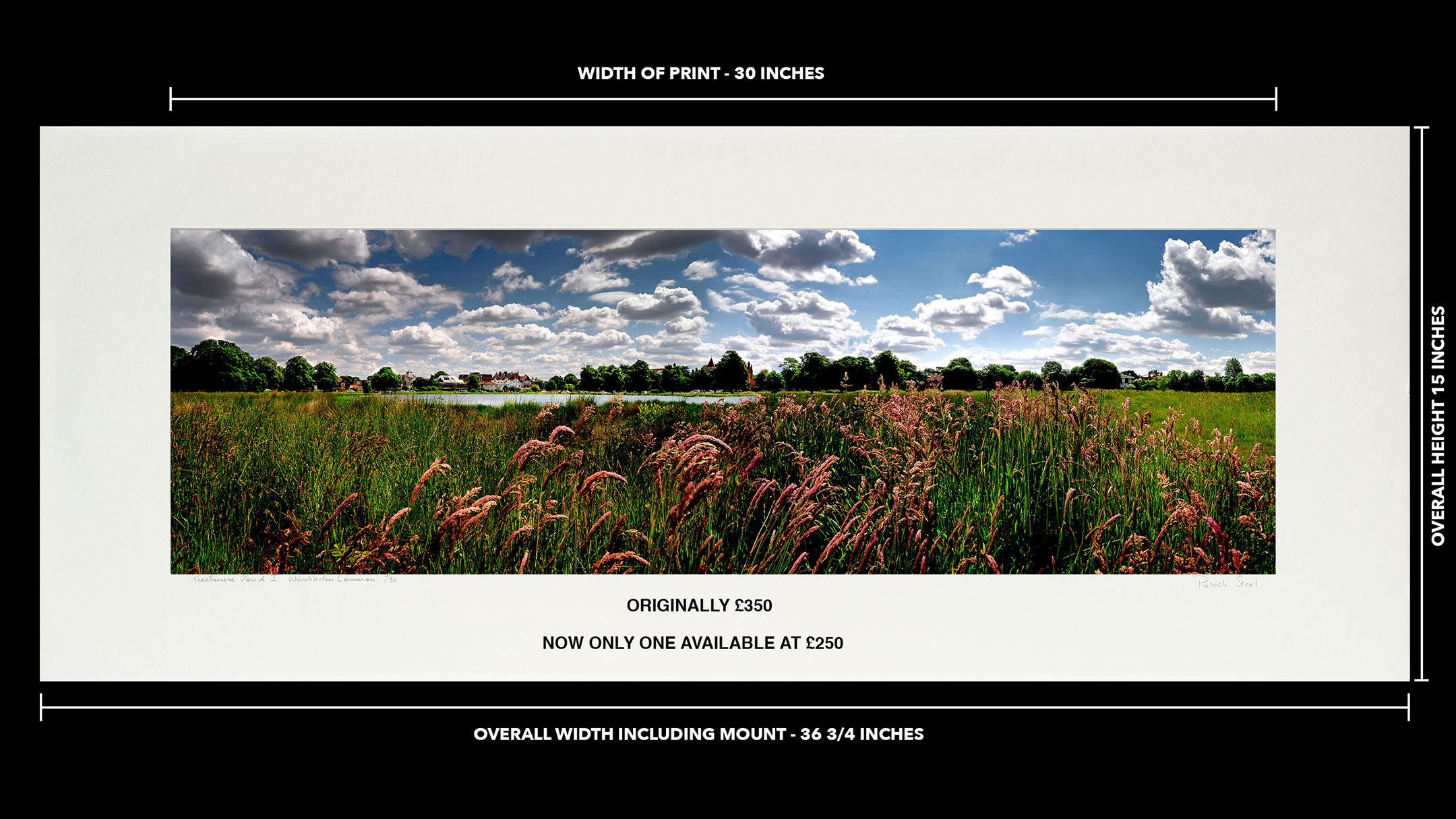Clearance | 30 inch Premounted print of: Rushmere Pond I | <a href=