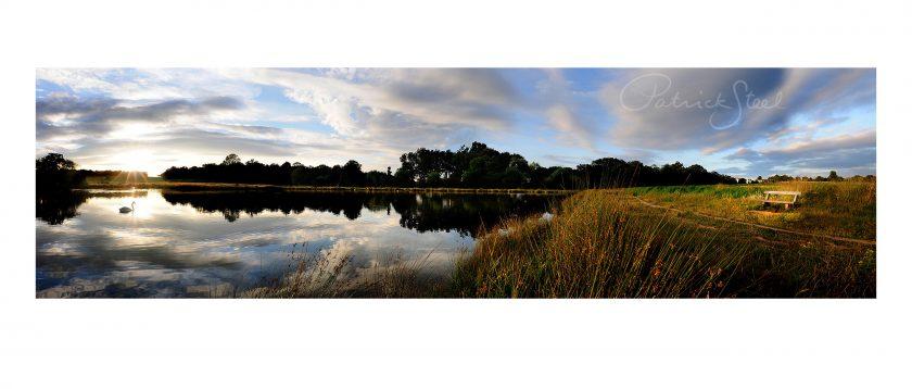Landscape Photography of Richmond Park : Lower Pen Pond at Sunset