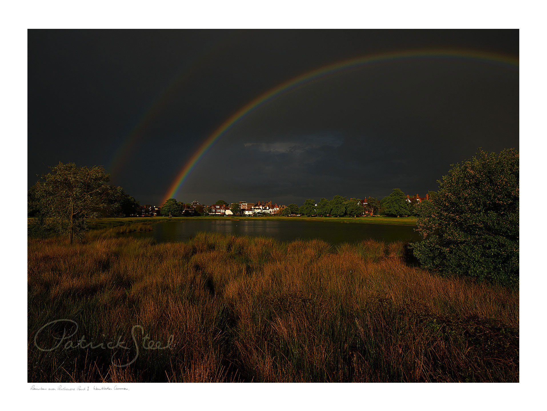 Title: Rainbow over Rushmere Pond I, Wimbledon Common | <a href=