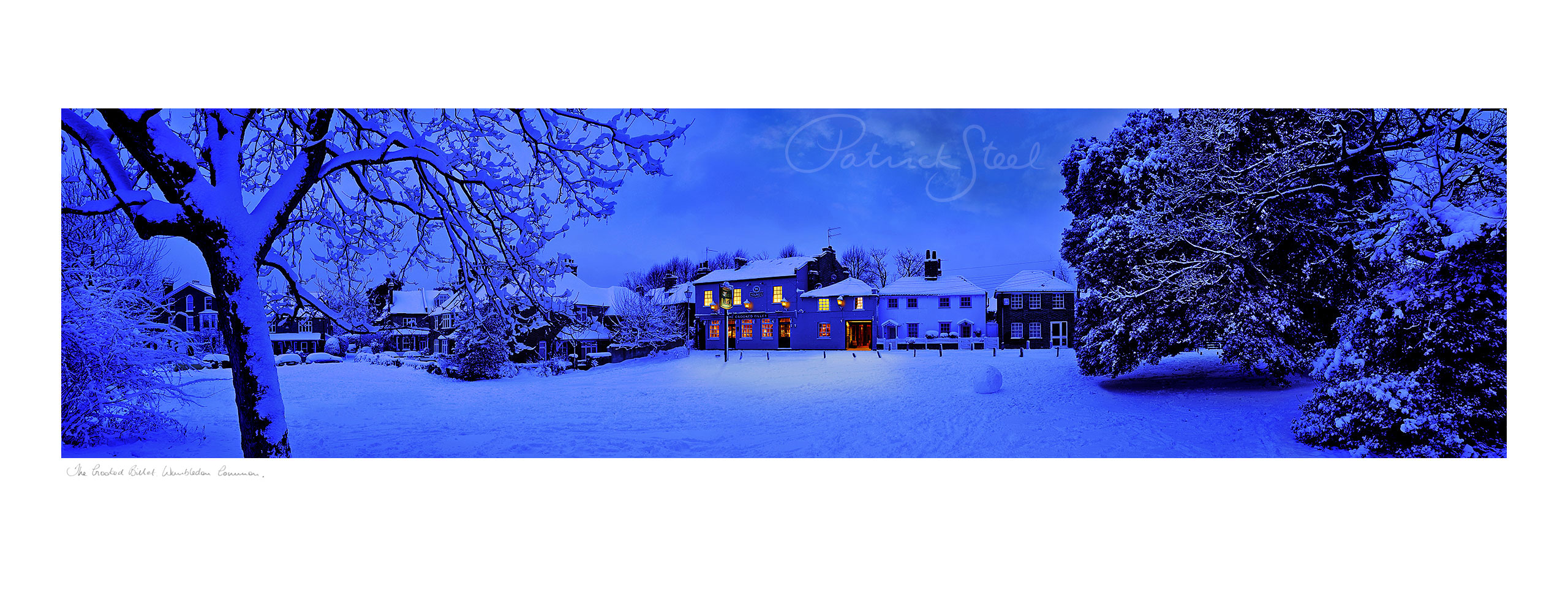 Title: The Crooked Billet in snow, Wimbledon Common | <a href=