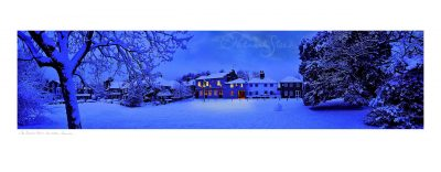 photograph the crooked billet pub in snow wimbledon common patrick steel snow scene
