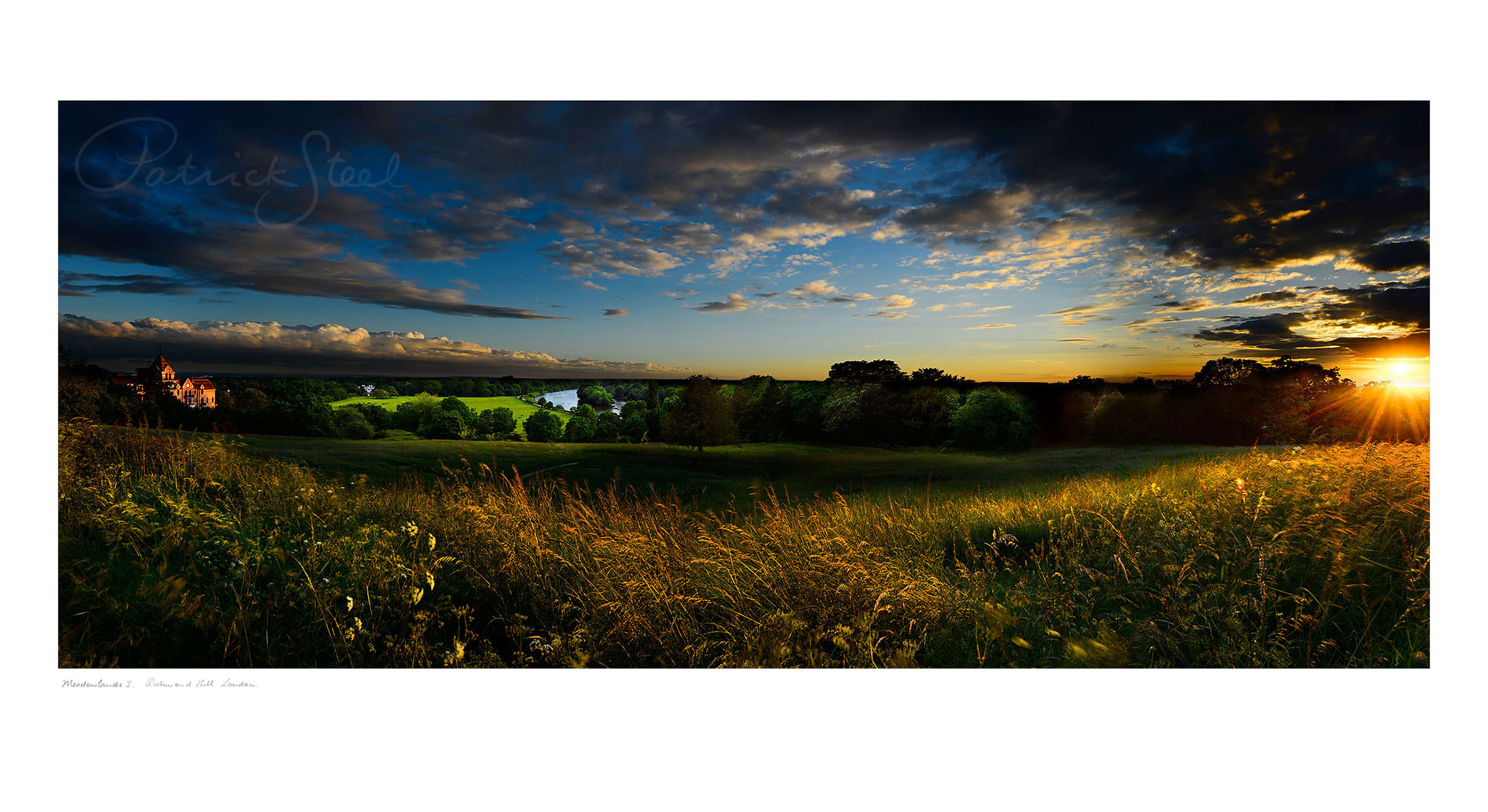 Panoramic Landscape Photograph of the view from Richmond Hill by Patrick Steel
