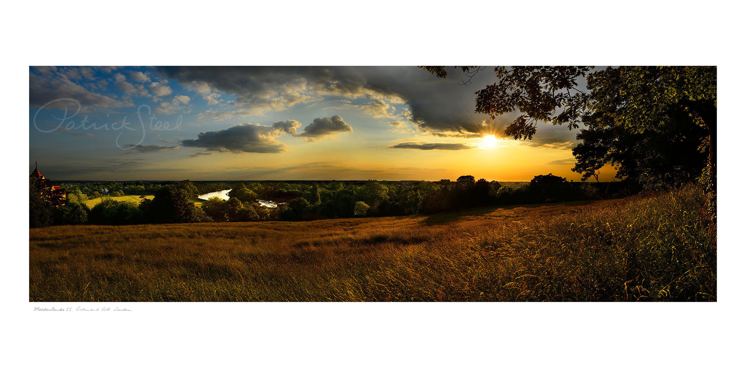 Panoramic Landscape Photograph 'Meadowlands II', the view from Richmond Hill by Patrick Steel