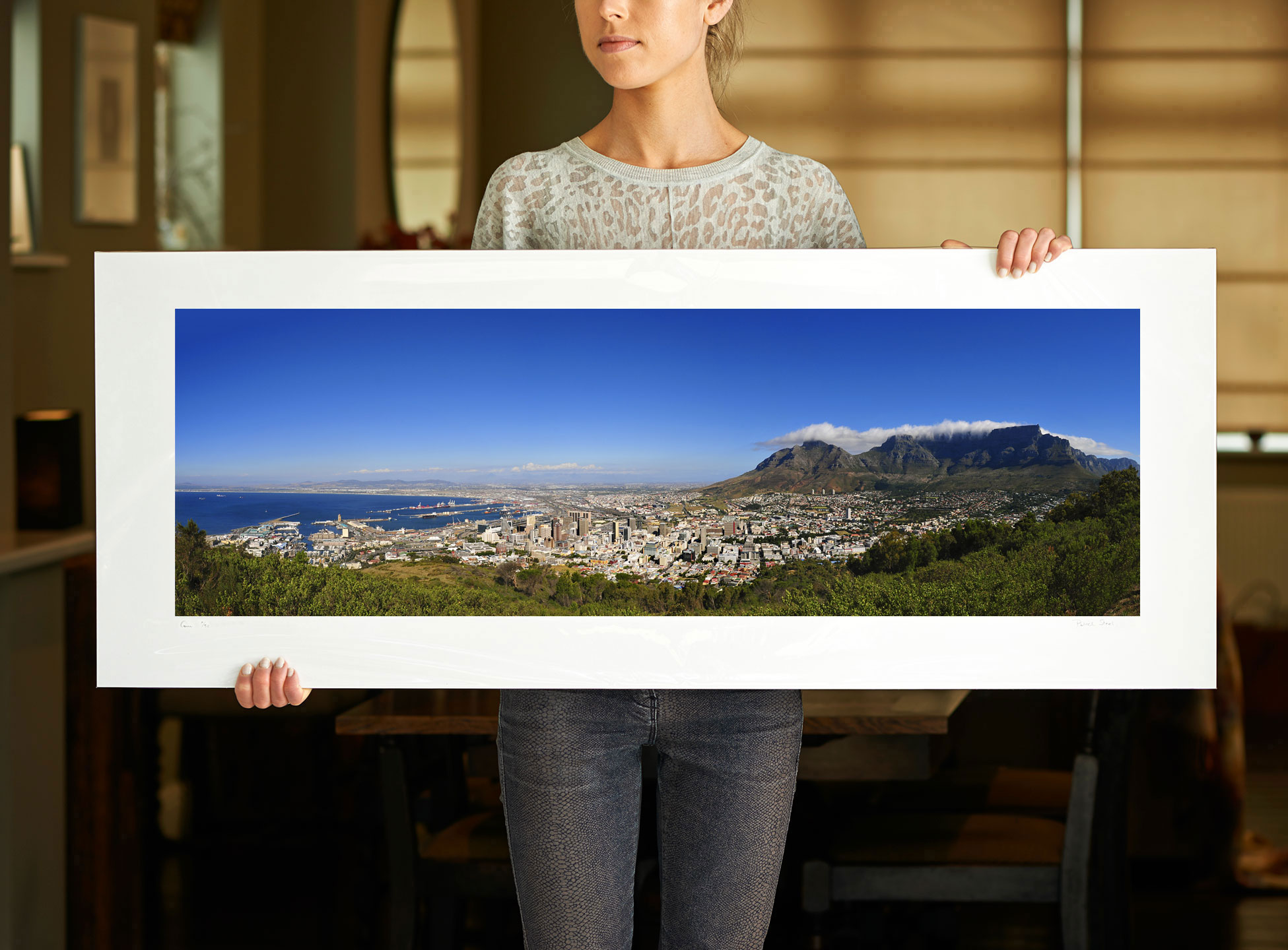 A 40 inch sample of: View from Signal Hill | Cape Town, South Africa, III | <a href=