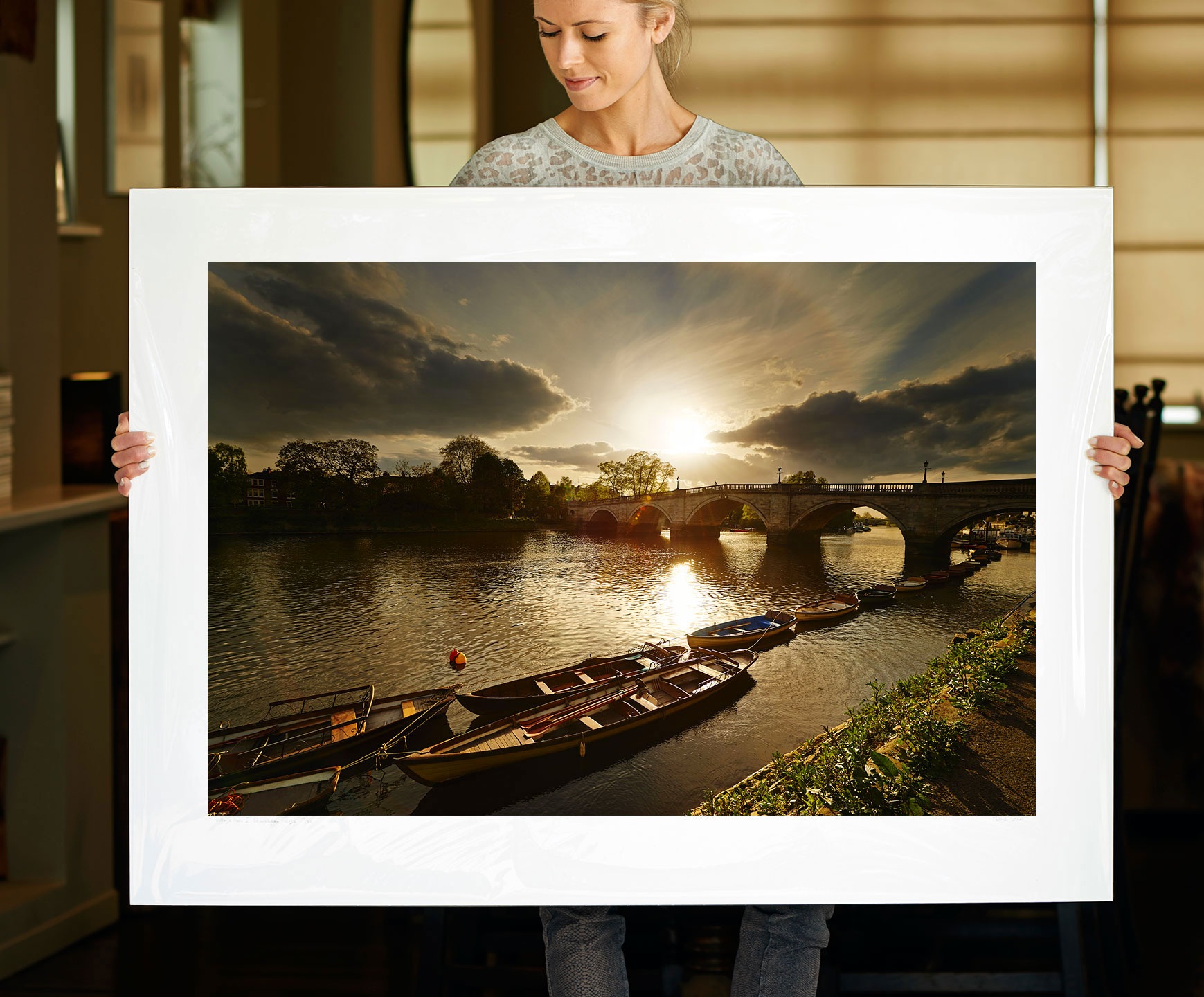 A 40 inch sample of: Richmond Bridge II, Richmond upon Thames | <a href=