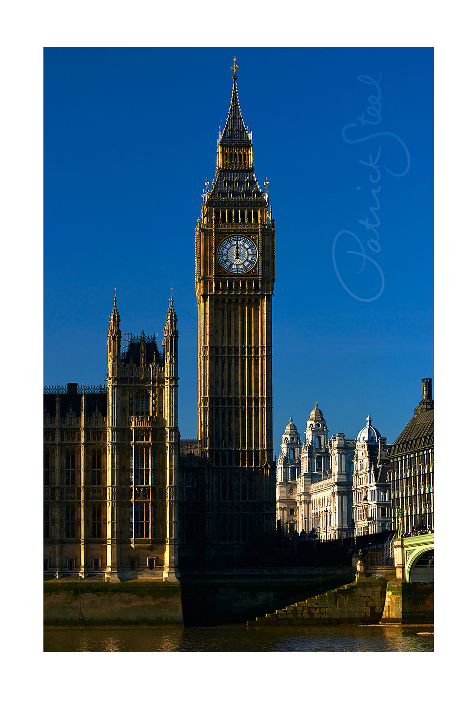 Title: Elizabeth Tower at Noon, Westminster, London | <a href=