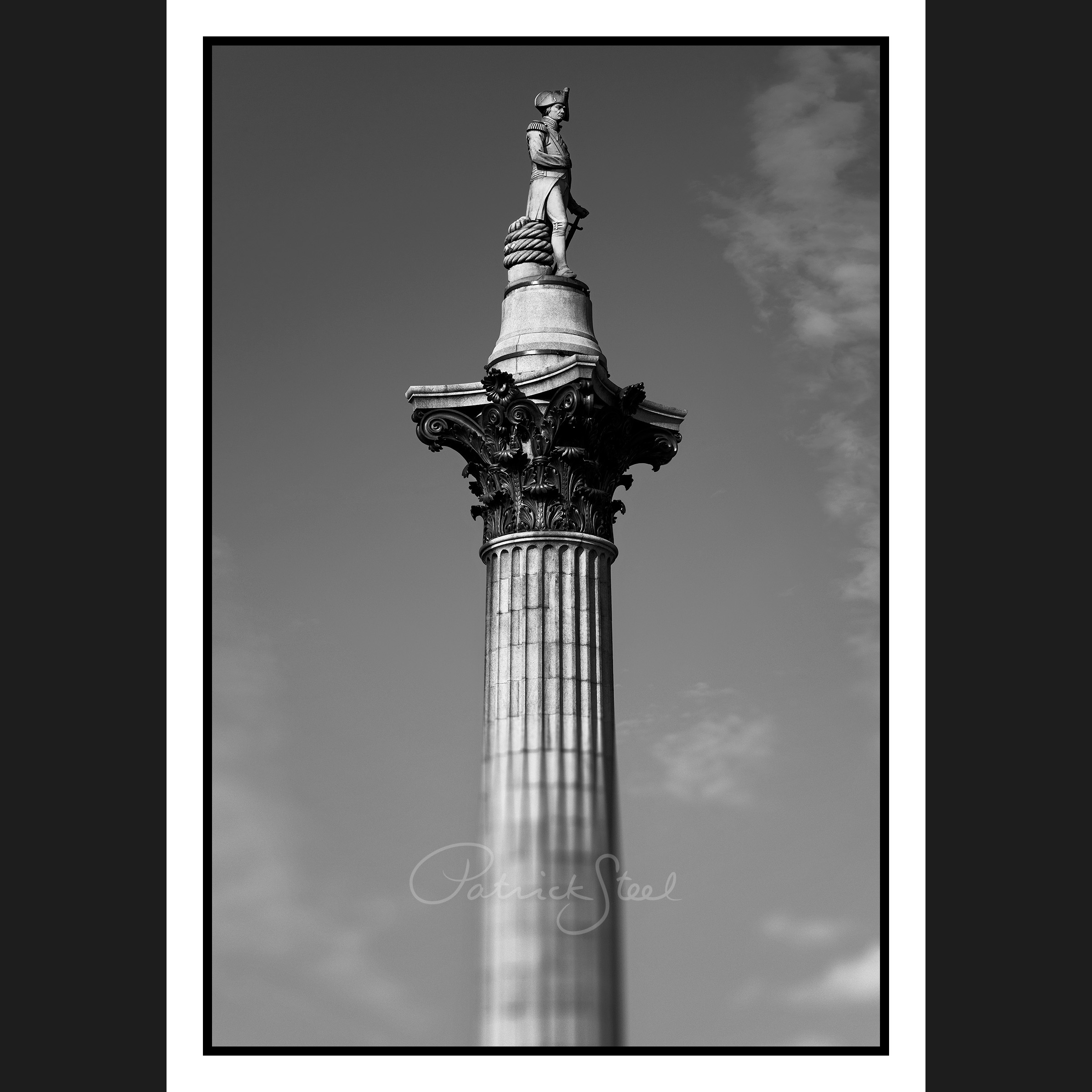 Title: Nelson's Column, Trafalgar Square, London | B&W | <a href=