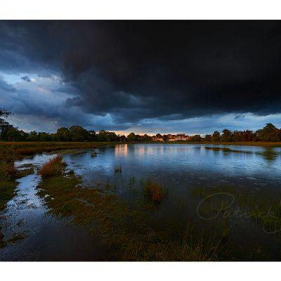 landscape photograph rain rings rushmere photo patrick steel