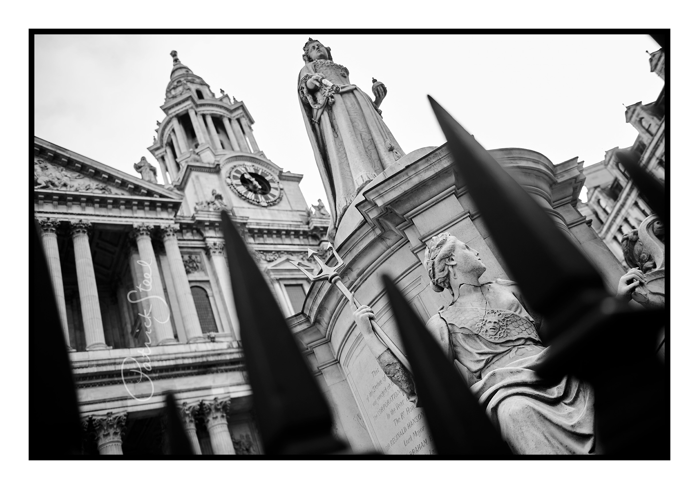 Title: A close-up study of 'Queen Anne Statue', St Pauls, London | B&W Only | Details coming soon...