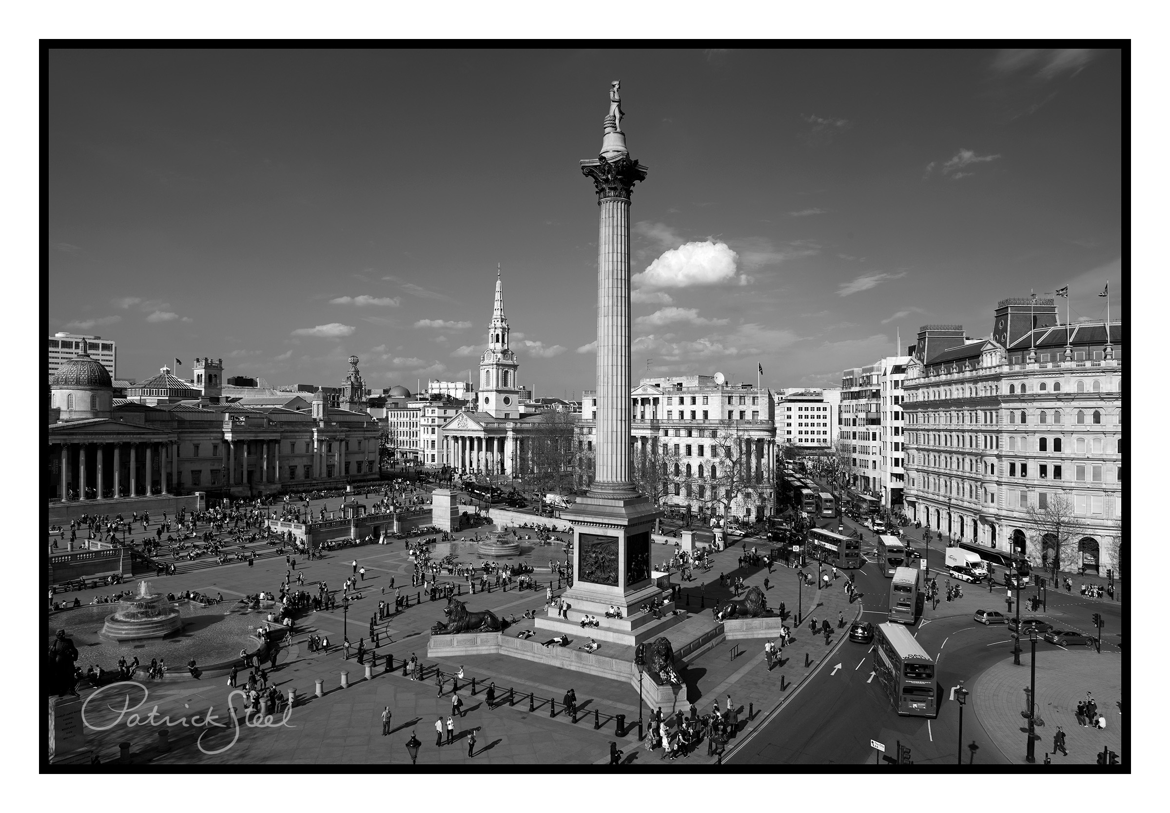Title: Trafalgar Square, London | B&W | <a href=