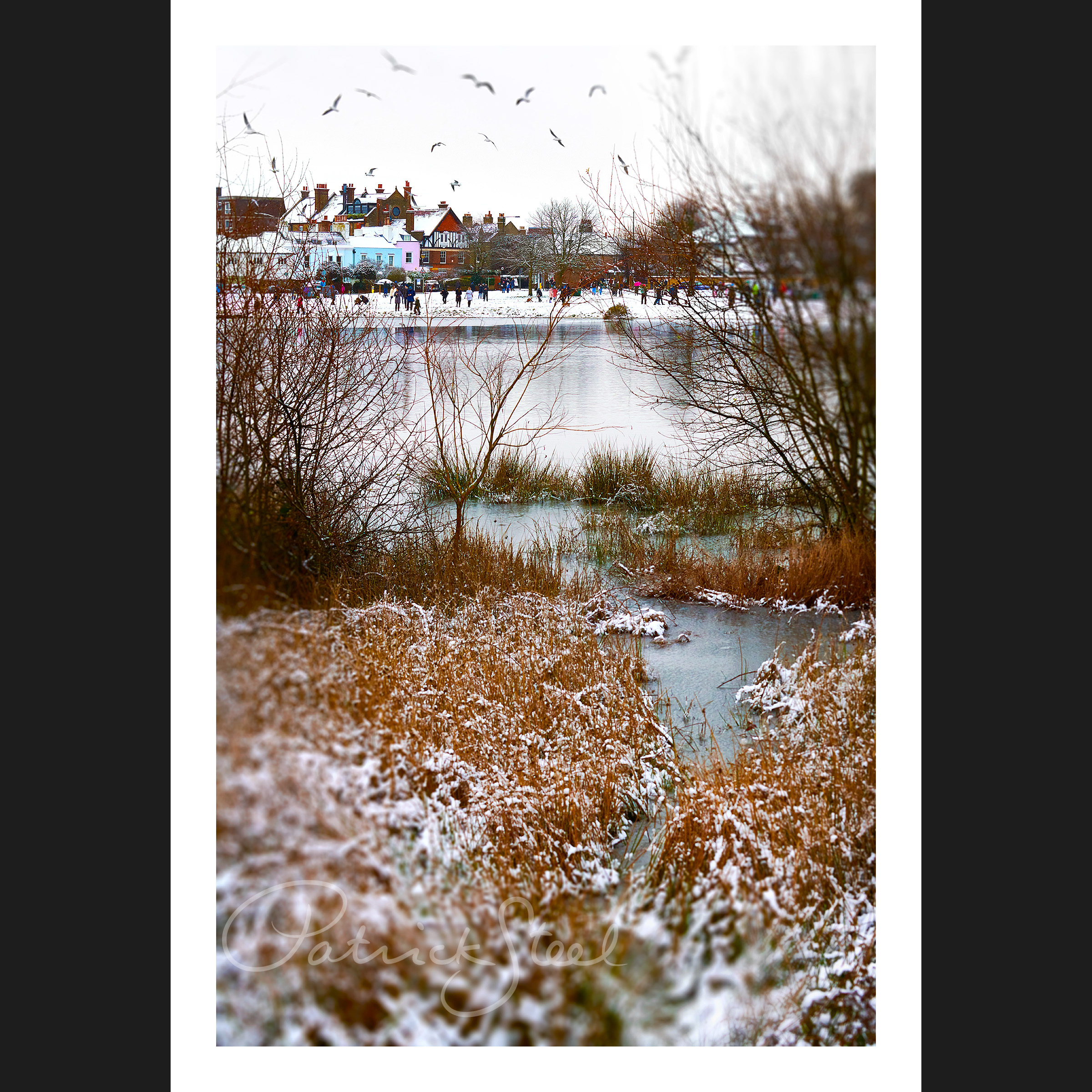 Title: View to WVillage in Snow | <a href=